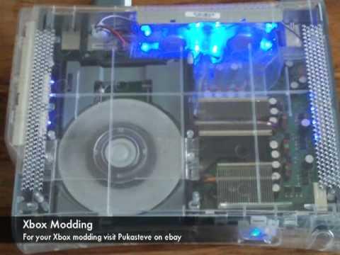 Xbox 360 Clear Case Mod Blue LEDs