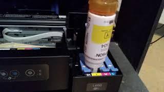 Cómo hacer una carga de tinta en la Epson L4150 , instalación parte 1