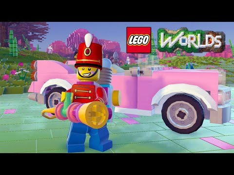 LEGO Worlds Egg Blaster and Pink Convertible Unlock Codes and Free Roam Gameplay