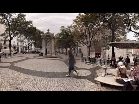 360 video: Entrance to Carmo Convent, Lisbon, Portugal