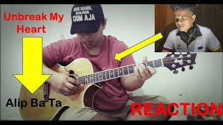 Gambar cover Tony Braxton - Unbreak My Heart [ fingerstyle cover ] - MINANG REACTION