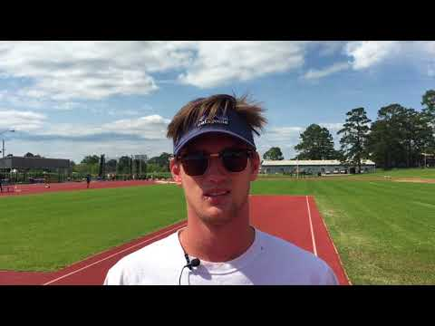 Collin Milton discusses his PR in the javelin at SFA