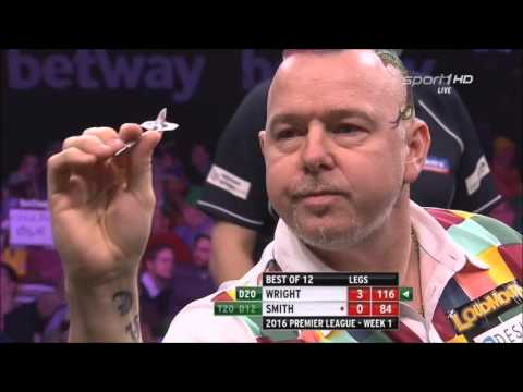 Peter Wright vs Michael Smith Premier League Darts 1. Session