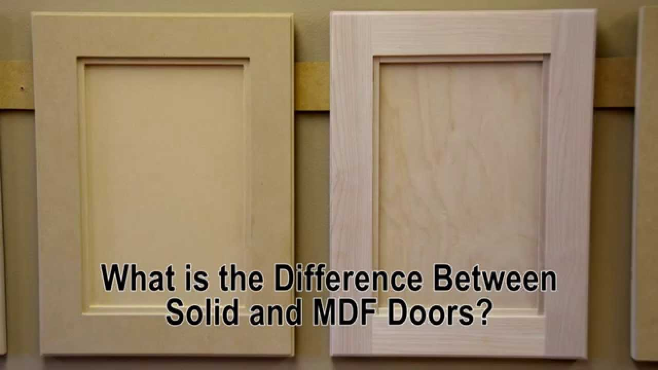 What is the difference between solid wood and MDF cabinet doors?