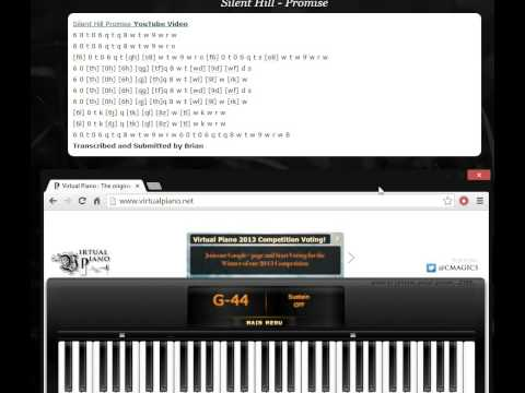 Silent Hill - Promise   (Virtual Piano)
