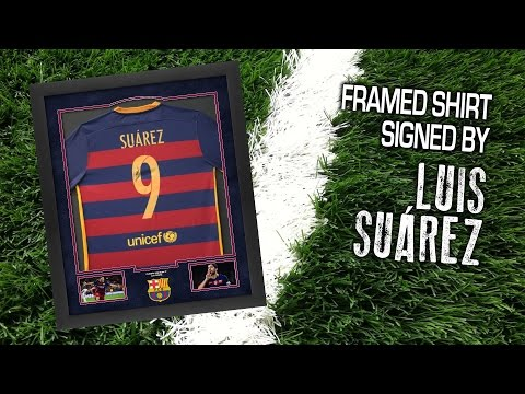 Framed Shirt Signed by Luis Suarez