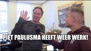 Dennis feliciteert Piet Paulusma met nieuwe baan