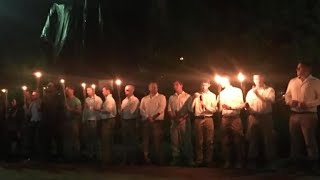 Torch-lit rally held in Charlottesville