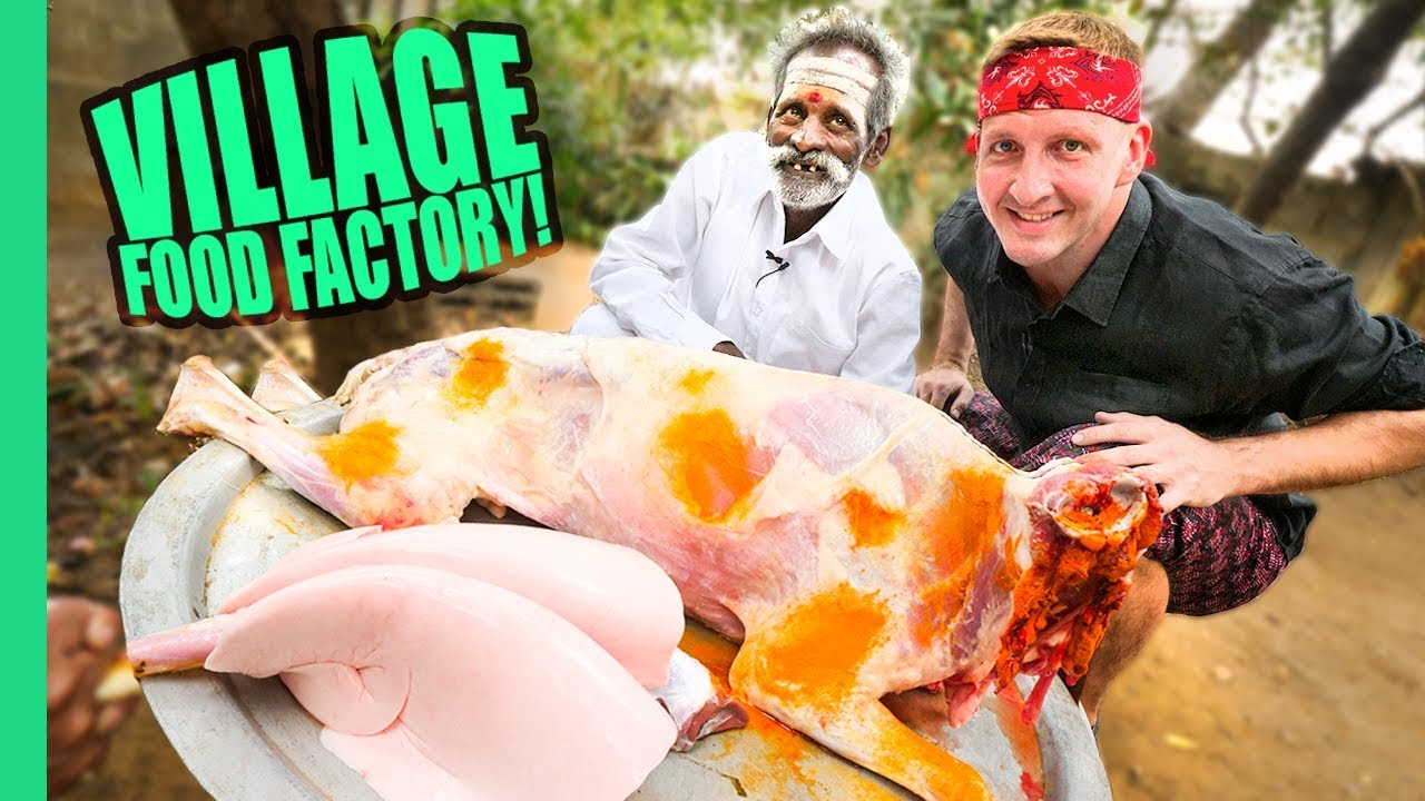 WHOLE INDIAN SHEEP CHUKKA w/ VILLAGE FOOD FACTORY!!!