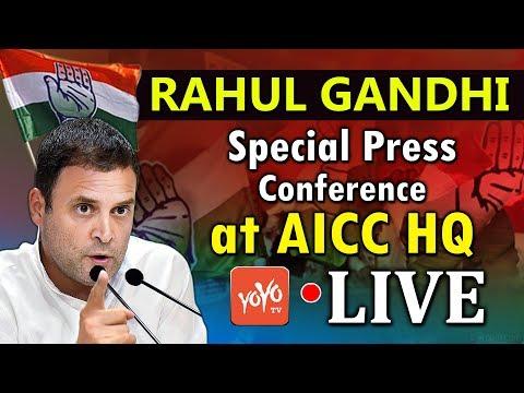LIVE : Rahul Gandhi Special Press Conference at AICC HQ Delhi   Congress LIVE   YOYO TV LIVE