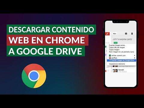 Cómo Descargar Archivos, Páginas y Contenido Web en Chrome Directamente a Google Drive