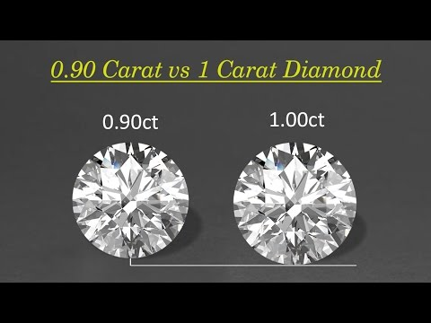 0.90 Carat vs 1 Carat Diamond