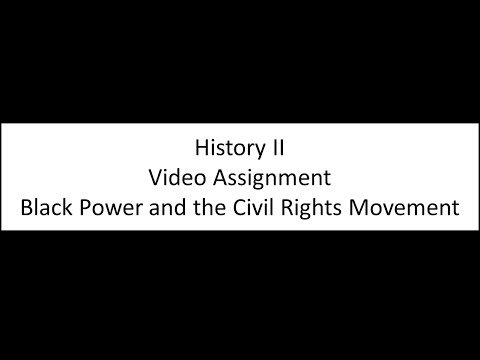 Black Power and the Civil Rights Movement