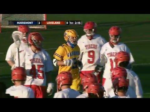 Mariemont 6 vs  Loveland 5 - Boys HS Lacrosse (5/5/2016)