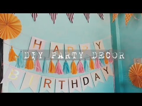 DIY TASSEL GARLAND AND ROUND FAN (BIRTHDAY DECORATIONS) | Momshie Lhors