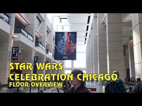 Star Wars Celebration Chicago Show Floor Overview
