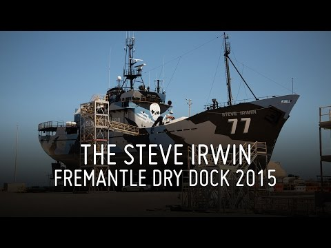 Steve Irwin Fremantle Drydock 2015 - Sea Shepherd