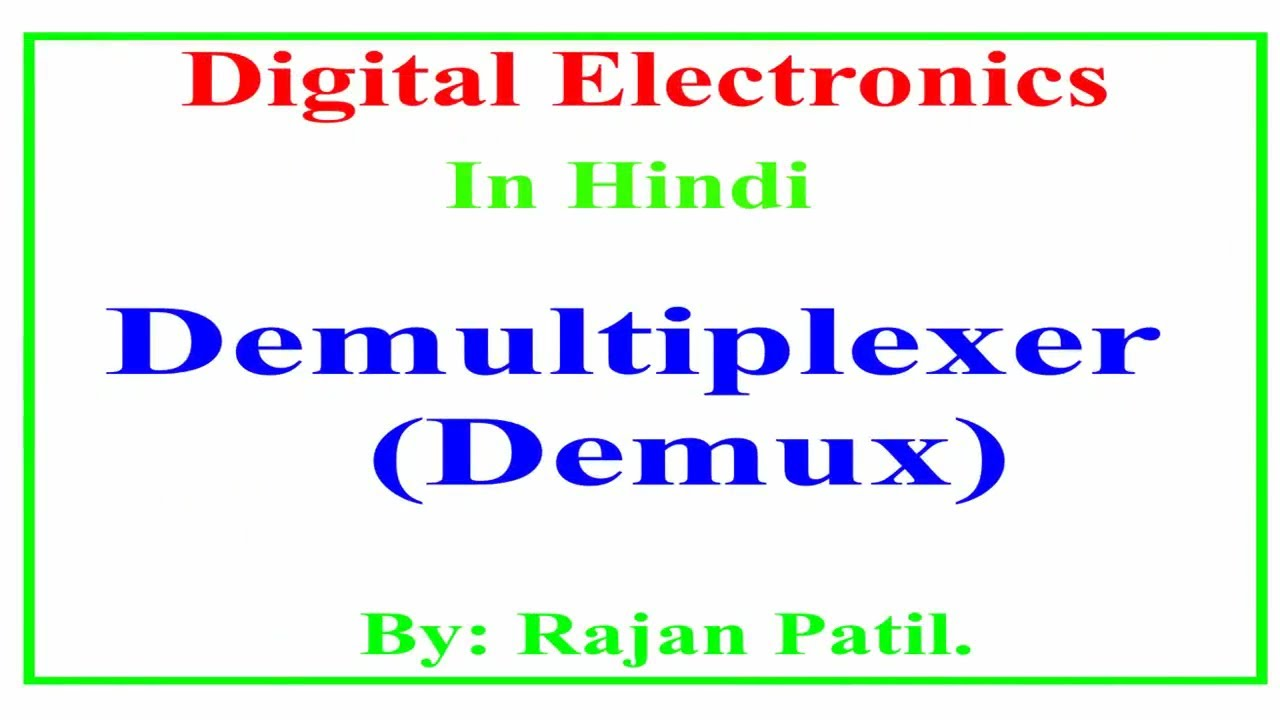 Demultiplexer Circuit Youtube 1 To 4 Logic Diagram