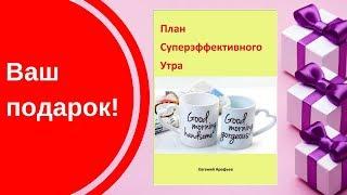"Подарок  - книга ""План суперэффнктивного утра"""