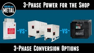 Static Phase Converters -vs- Rotary Phase Converters -vs- Variable Frequency Drives