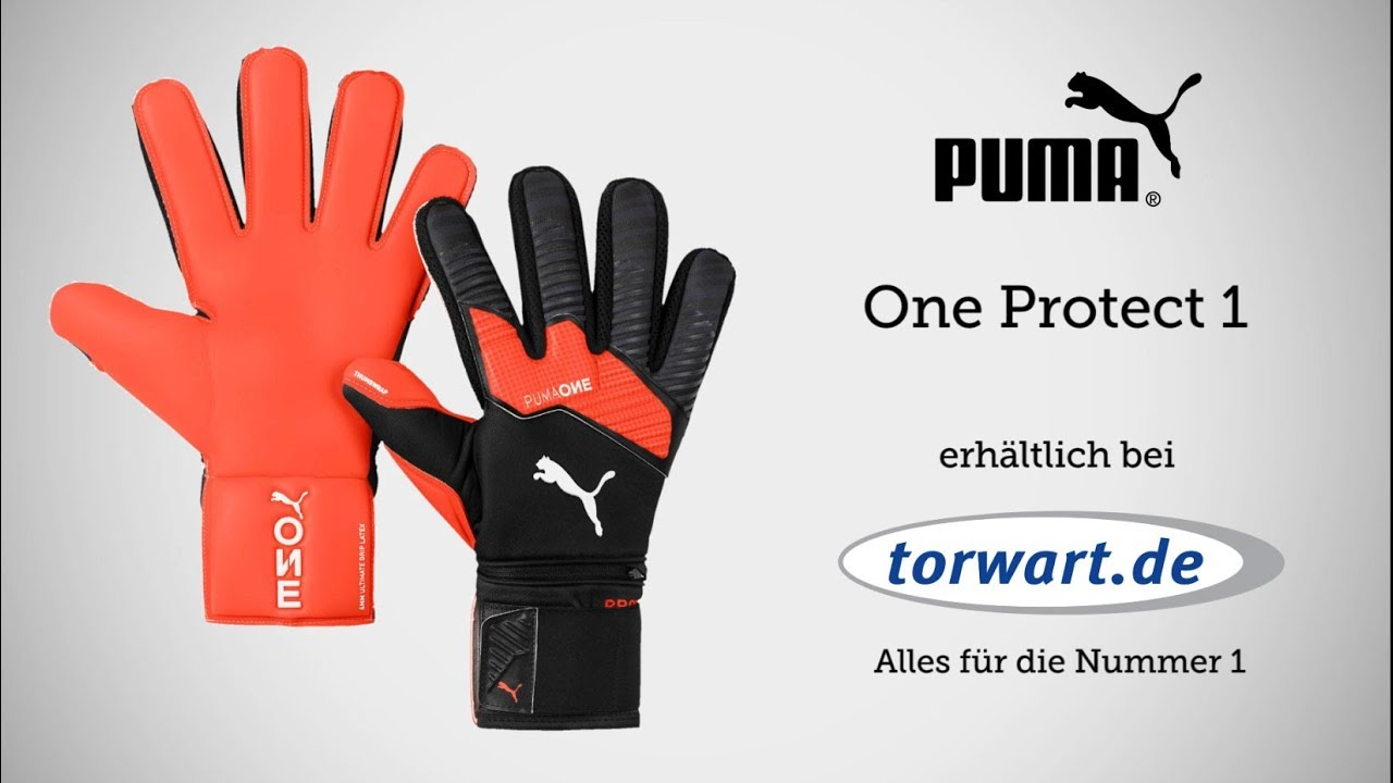 details for huge inventory store Puma One Protect 1 | Torwarthandschuhe 2019 | Produktvideo