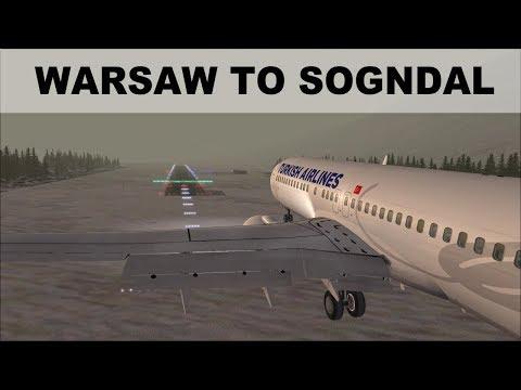 [FSX] FLIGHT SIMULATOR 2017 | WARSAW TO SOGNDAL | TAKEOFF AND LANDING B737 | IVAO LIVE STREAM