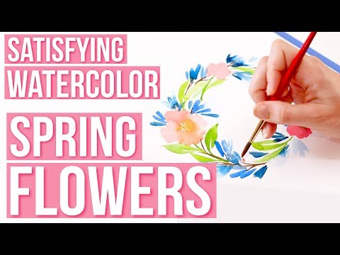 satisfying-watercolor- -spring-flowers-(shortened,-paint-only-version-of-tutorial)