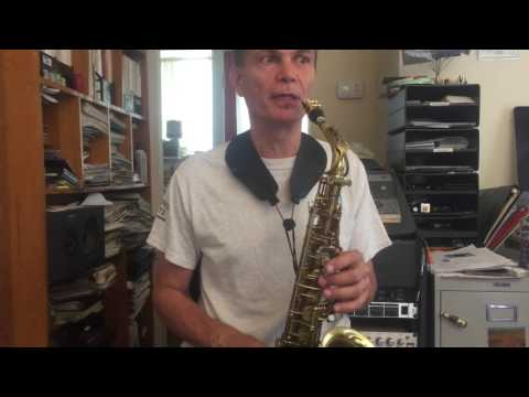 First Sax Lesson - Demonstrating the two note exercises on Gm Pentatonic