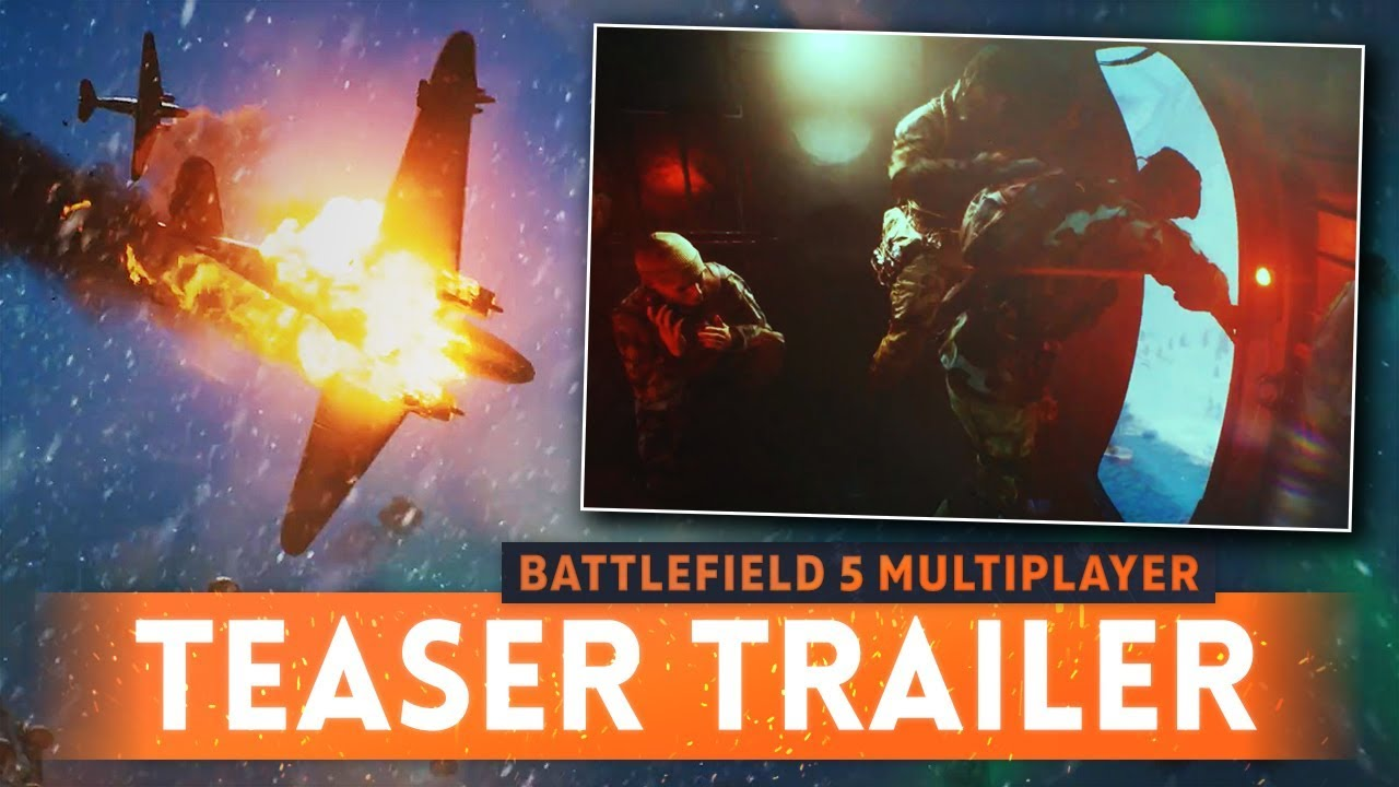 BATTLEFIELD 5 MULTIPLAYER GAMEPLAY TEASER! - Airborne Mode, Paratroopers, Norway Setting