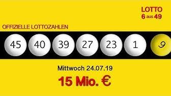 Lottozahlen 24.07.19 Lotto6aus49