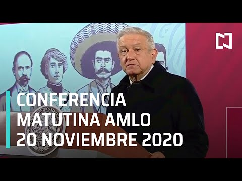 Conferencia matutina AMLO/ 20 de noviembre 2020