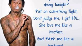 Nicki Minaj  High School feat. Lil Wayne) (Clean) [Lyric Video]