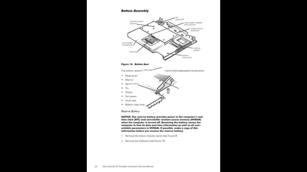 dell latitude cs portable computers service manual youtube rh youtube com dell latitude d630 user manual pdf download dell latitude d630 laptop user manual