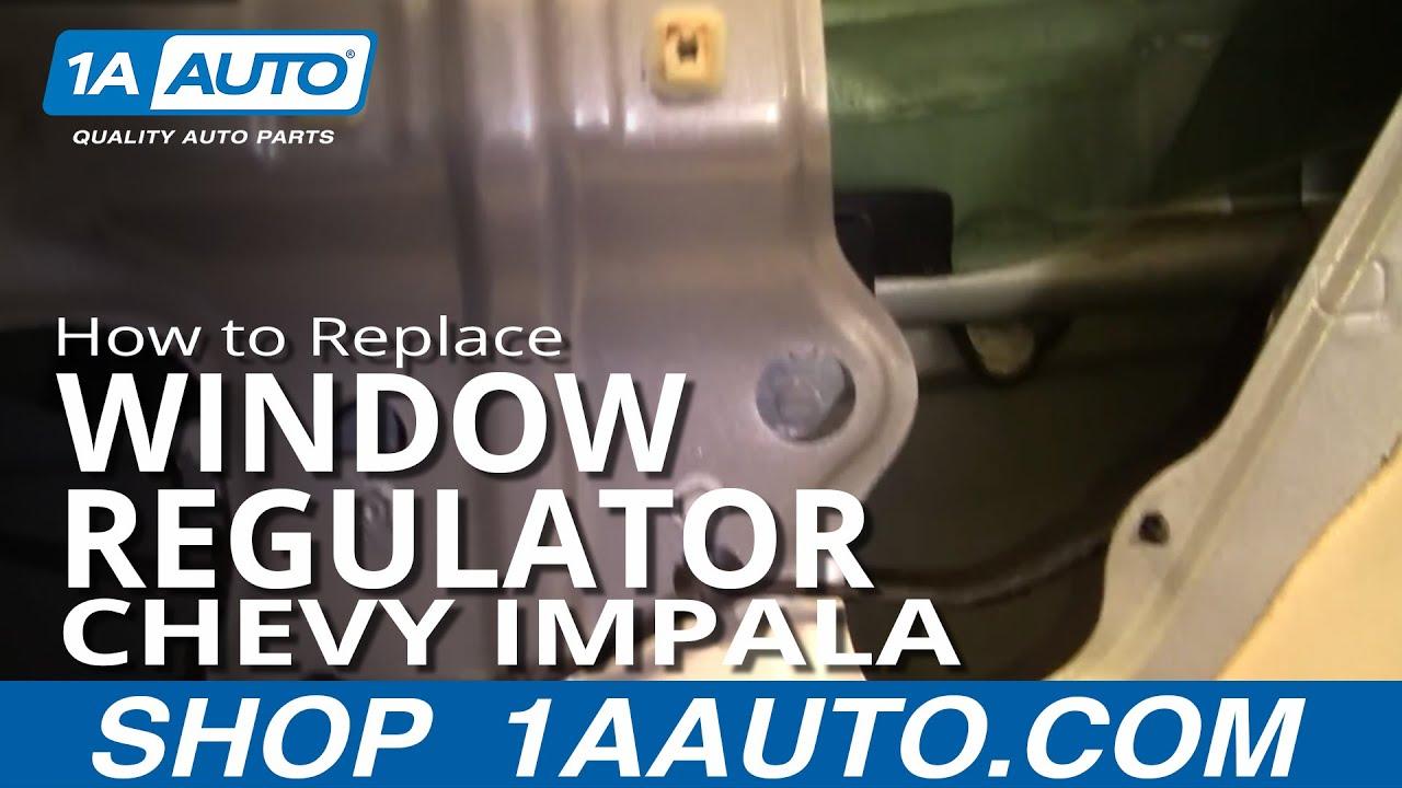 How To Install Remove Broken REAR Power Window Regulator Chevy Impala 0005 1AAuto  YouTube