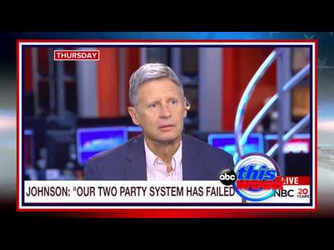 Gary Johnson Fumbles Again!
