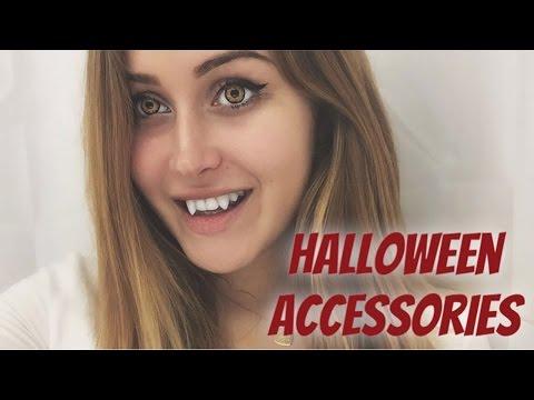 видео: //halloween accessories// Линзы, клыки и прочая жуть