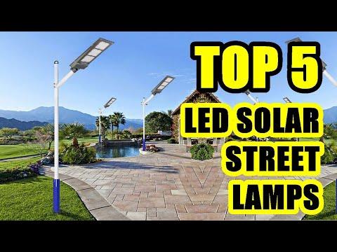TOP 5: Best LED Solar Street Lamp 2021 | for Yard, Garden, Street, Basketball Court