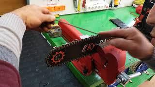 Motorlu testere (Hızar.Benzinli Zincirli Ağaç Kesme) bıçakları bileme nasıl yapılır.