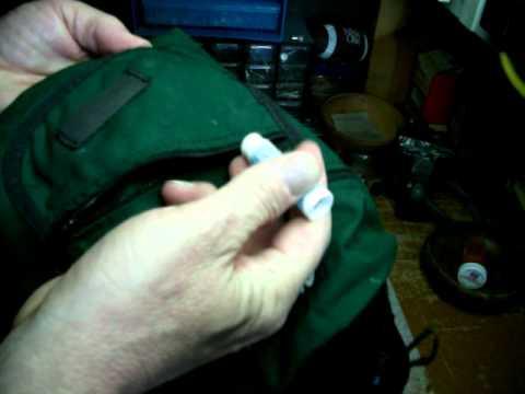 Gear Repair - Lubricating a zipper