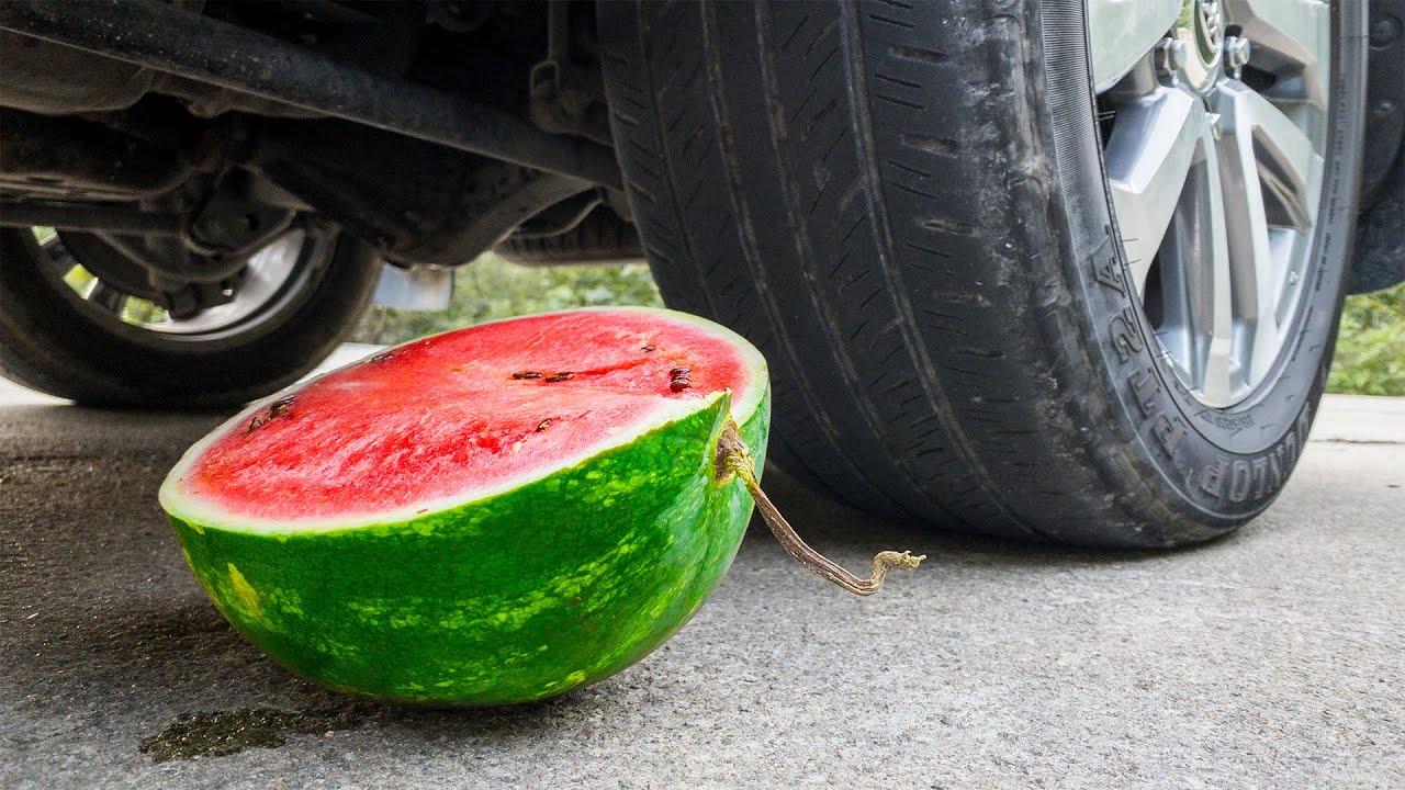 Crushing Crunchy & Soft Things with Car! CAR VS WATERMELON