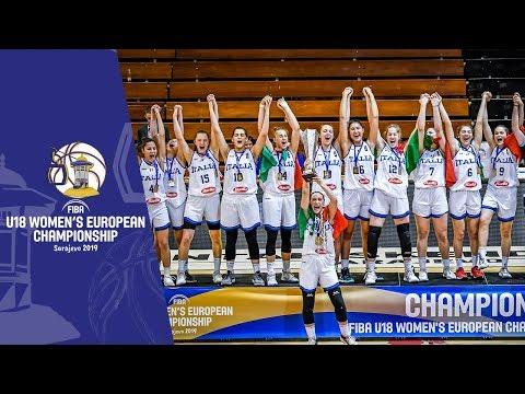 Italy v Hungary - Full Final Game & Closing Ceremony - FIBA U18 Women's European Championship 2019