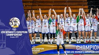 Italy v Hungary - Full Final Game amp Closing Ceremony - FIBA U18 Women#39s European Championship 2019