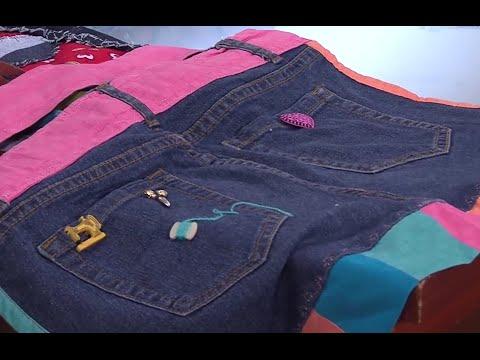 Como hacer un Bolso utilizando un Blue jean- Hogar Tv  por Juan Gonzalo Angel