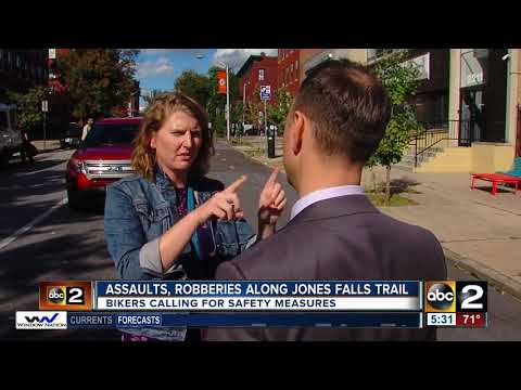 Assaults, robberies of bicyclists along Jones Falls Trail spark concern