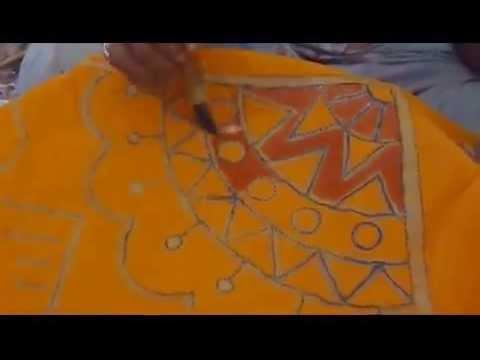 Batik Waxing Process