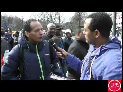 Demonstration againest Deportation of amiharic speaking people interview Amiharic