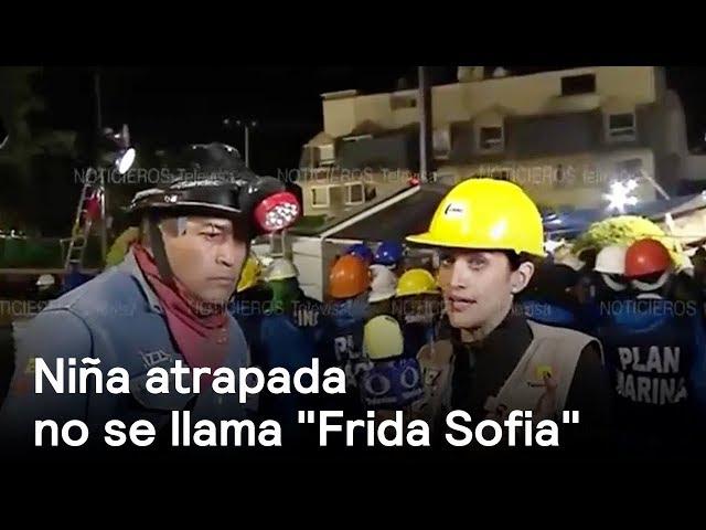 """Niña atrapada no se llama """"Frida Sofia"""". #FuerzaMéxico"""