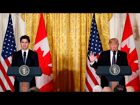 Trudeau and Trump speak to media after talks [Full media briefing]