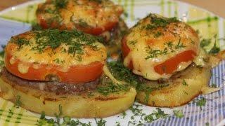 Закуска из картофеля с мясным фаршем