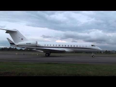 Bombardier BD-700 Global Express - Roger Federer on board arriving to Bogotá SKBO